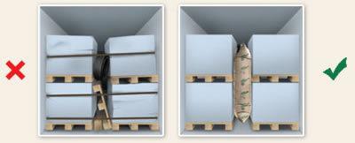 vzduchové pytle - kontejner
